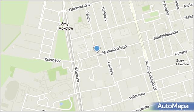 Warszawa, Karłowicza Mieczysława, mapa Warszawy