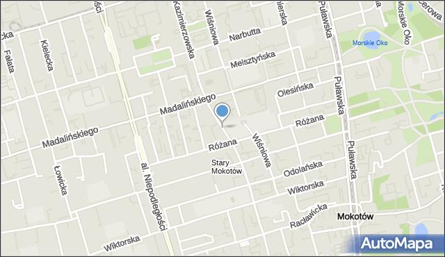 Warszawa, Kazimierzowska, mapa Warszawy