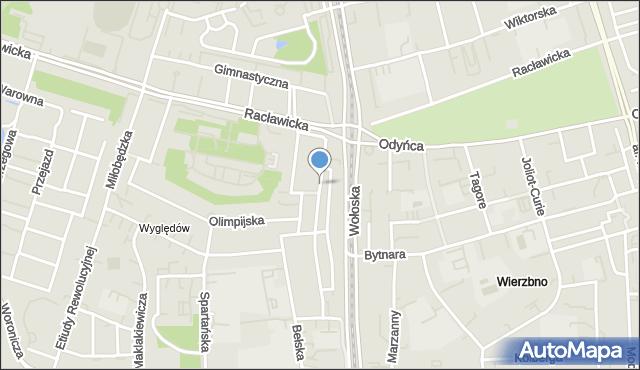 Warszawa, Karwińska, mapa Warszawy