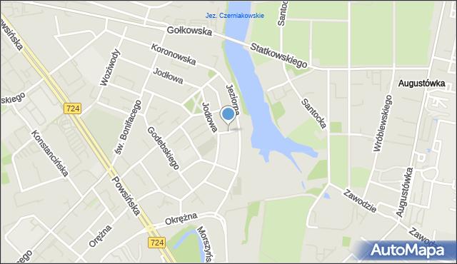 Warszawa, Kąpielowa, mapa Warszawy