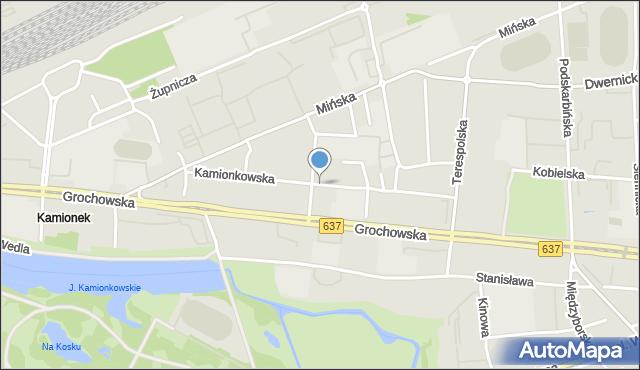 Warszawa, Kamionkowska, mapa Warszawy