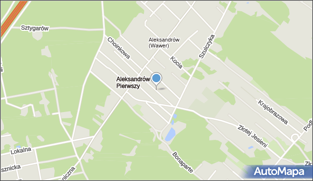 Warszawa, Kalinowa, mapa Warszawy