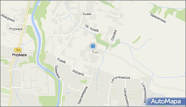 Wieprz powiat wadowicki, Kalinowa, mapa Wieprz powiat wadowicki