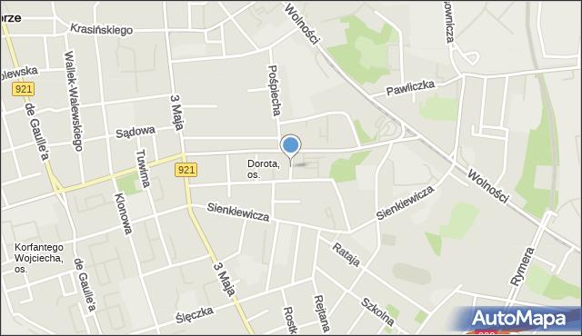 Zabrze, Kamienna, mapa Zabrza