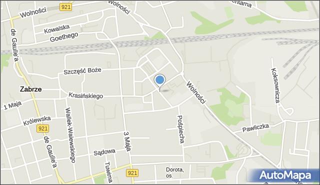 Zabrze, Karłowicza Jana, mapa Zabrza
