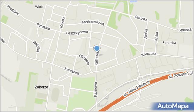 Zabrze, Kalinowa, mapa Zabrza