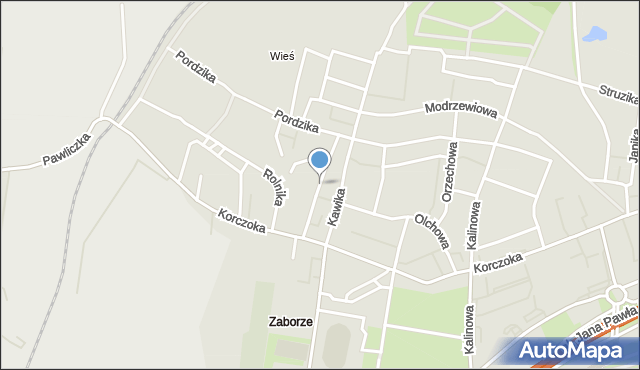 Zabrze, Karczewskiego Wacława, mapa Zabrza
