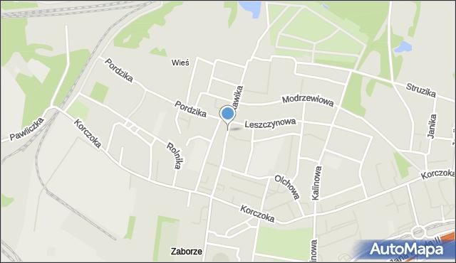 Zabrze, Kawika Adama, mapa Zabrza
