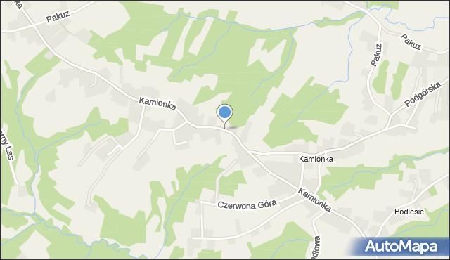 Zakliczyn gmina Siepraw, Kamionka, mapa Zakliczyn gmina Siepraw