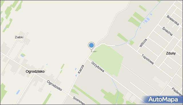 Zduńska Wola, Kacza, mapa Zduńska Wola