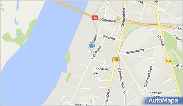 Grudziądz, Kępowa, mapa Grudziądza