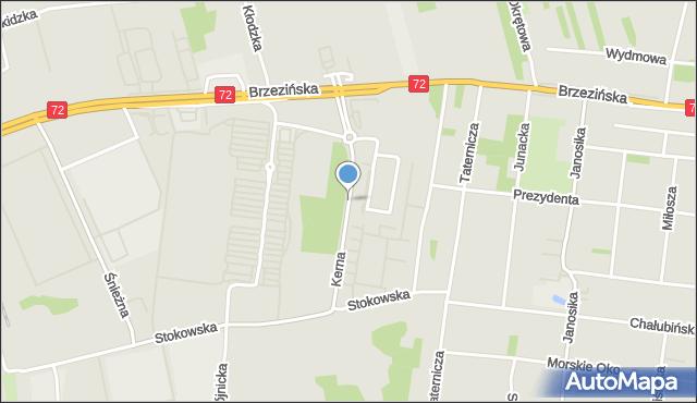Łódź, Kerna Andrzeja, mapa Łodzi