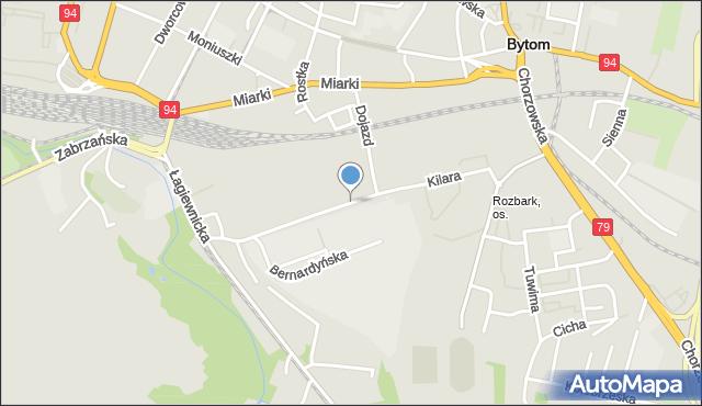 Bytom, Kilara Wojciecha, mapa Bytomia