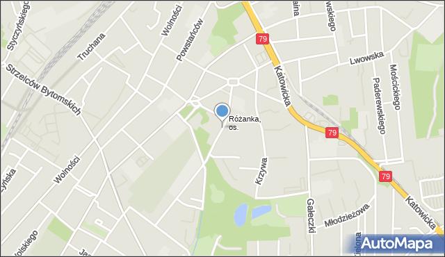 Chorzów, Kilińskiego Jana, płk., mapa Chorzów