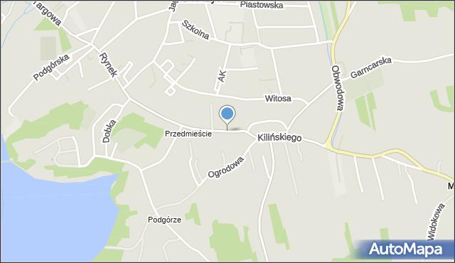 Dobczyce, Kilińskiego Jana, płk., mapa Dobczyce