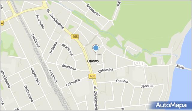 Gdynia, Kiedronia Józefa, mapa Gdyni