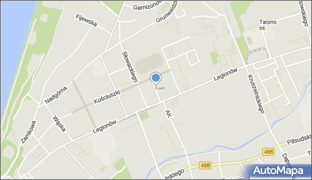 Grudziądz, Kilińskiego Jana, płk., mapa Grudziądza