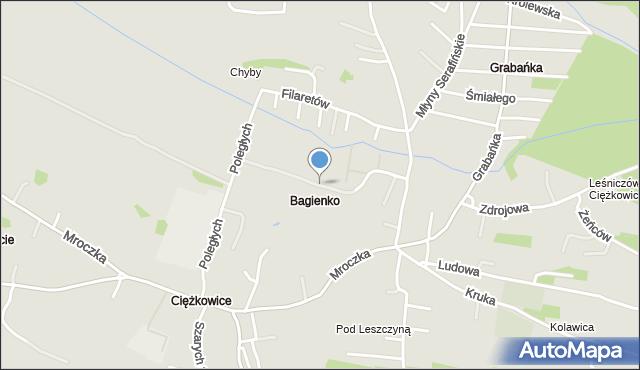Jaworzno, Kiepury Jana, mapa Jaworzno