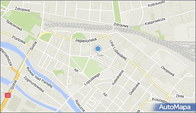 Kołobrzeg, Kilińskiego Jana, płk., mapa Kołobrzegu