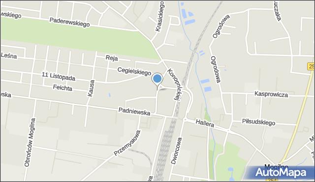 Mogilno, Kilińskiego Jana, płk., mapa Mogilno