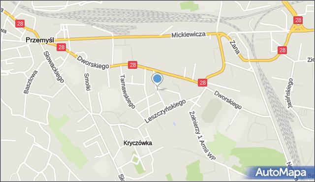 Przemyśl, Kilińskiego Jana, płk., mapa Przemyśla
