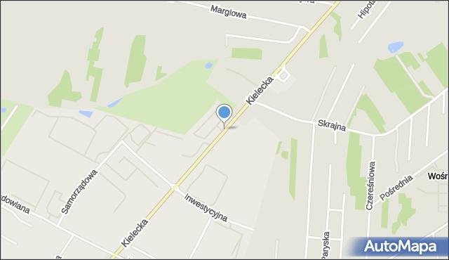 Radom, Kielecka, mapa Radomia