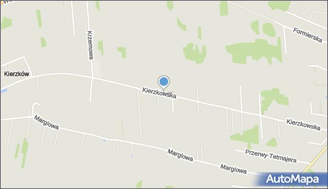 Radom, Kierzkowska, mapa Radomia