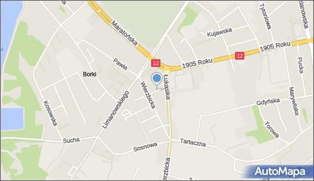 Radom, Kijewskiej Bohdany, mapa Radomia