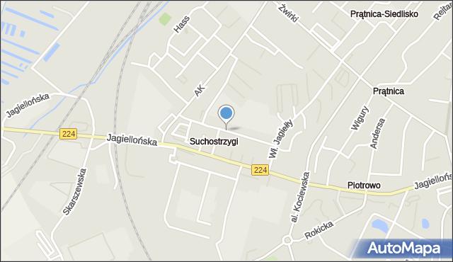 Tczew, Kilińskiego Jana, płk., mapa Tczew