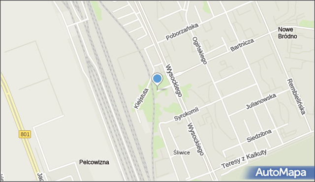 Warszawa, Kiejstuta, mapa Warszawy