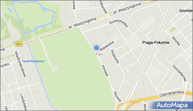 Warszawa, Kinowa, mapa Warszawy