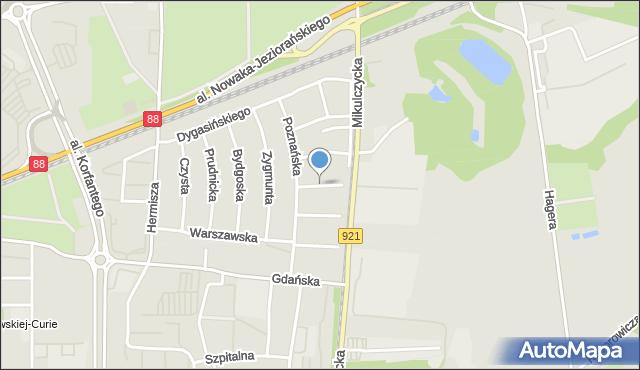 Zabrze, Kilińskiego Jana, płk., mapa Zabrza