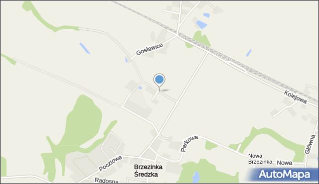 Brzezinka Średzka, Klonowa, mapa Brzezinka Średzka