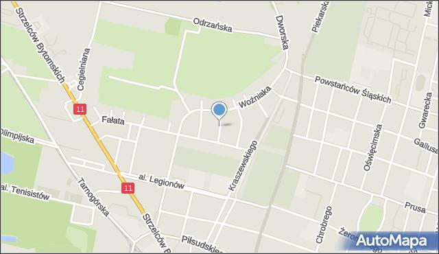 Bytom, Klonowa, mapa Bytomia