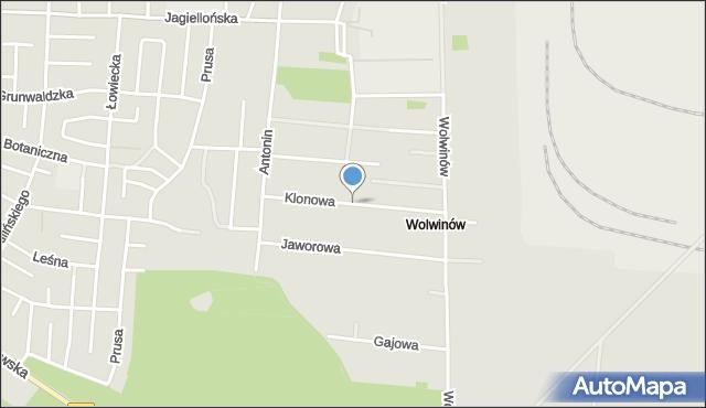 Chełm, Klonowa, mapa Chełma