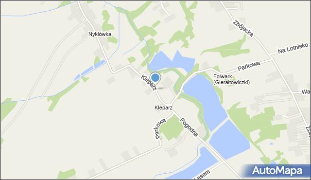 Gierałtowiczki, Kleparz, mapa Gierałtowiczki