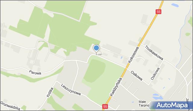 Grudziądz, Klonowa, mapa Grudziądza
