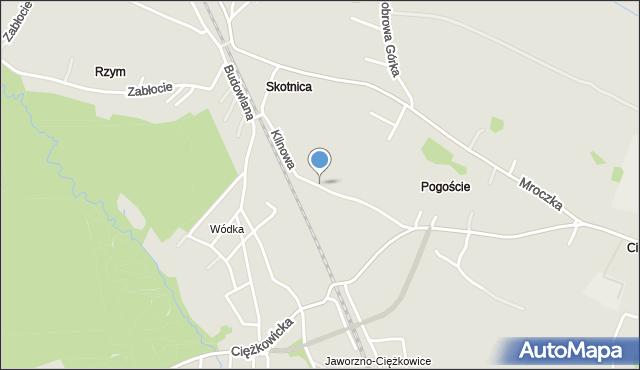 Jaworzno, Klinowa, mapa Jaworzno