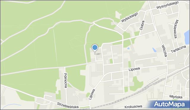 Luzino, Klonowa, mapa Luzino