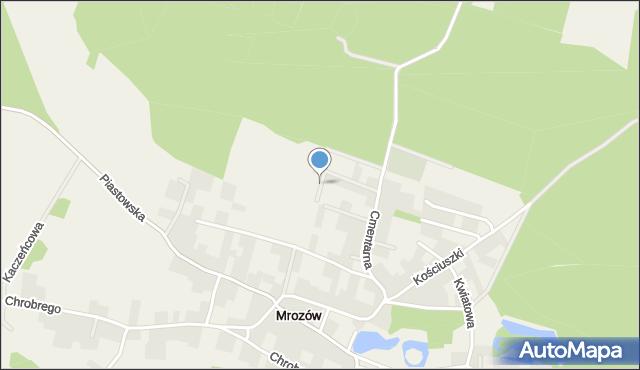 Mrozów, Klonowa, mapa Mrozów