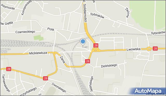 Przemyśl, Klaczki Juliana, mapa Przemyśla