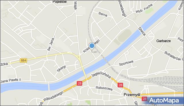 Przemyśl, Klasztorna, mapa Przemyśla