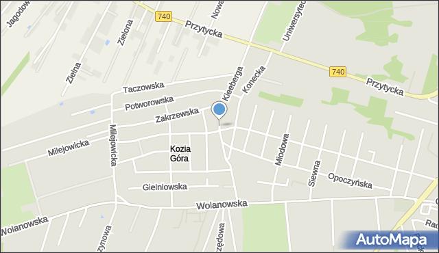 Radom, Kleeberga Franciszka, gen., mapa Radomia