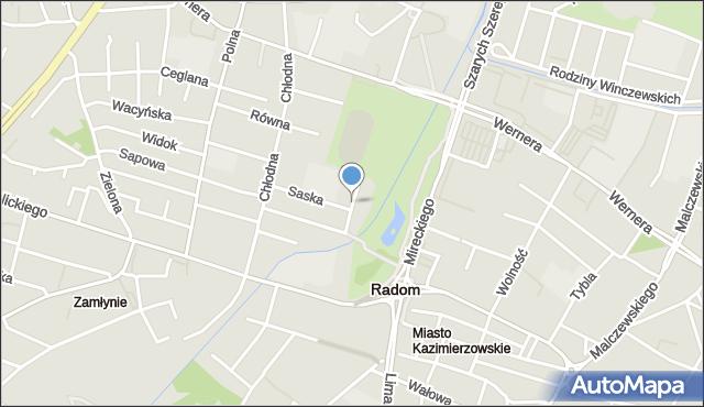 Radom, Klementyny, mapa Radomia