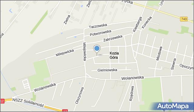 Radom, Klwowska, mapa Radomia