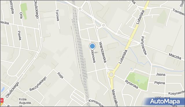 Rzeszów, Klonowa, mapa Rzeszów