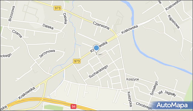 Tarnów, Kleeberga Franciszka, mapa Tarnów
