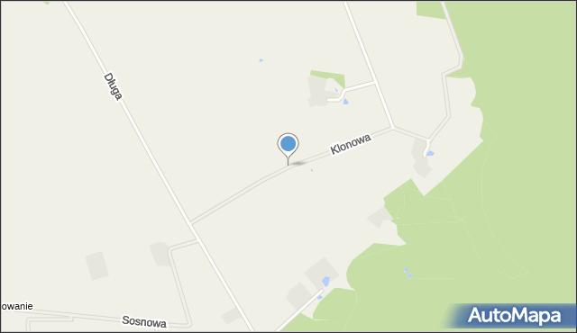 Tępcz, Klonowa, mapa Tępcz