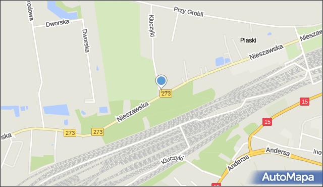 Toruń, Kluczyki, mapa Torunia