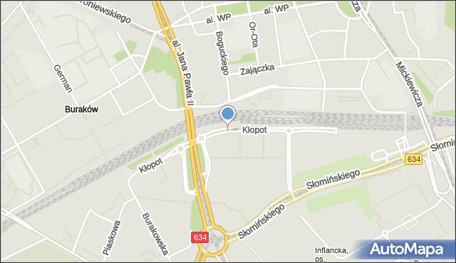 Warszawa, Kłopot, mapa Warszawy